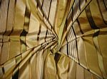 Coney Island Collection - Gold Silk Taffeta with Bronze & Olive Satin Stripes