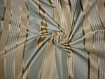 Coney Island Collection - Blue & Ivory Silk Taffeta with Gold & Blue Satin Stripes