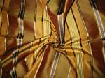 Coney Island Collection - Cinnamon & Pumpkin Silk Taffeta with Gold & Copper Satin Stripes
